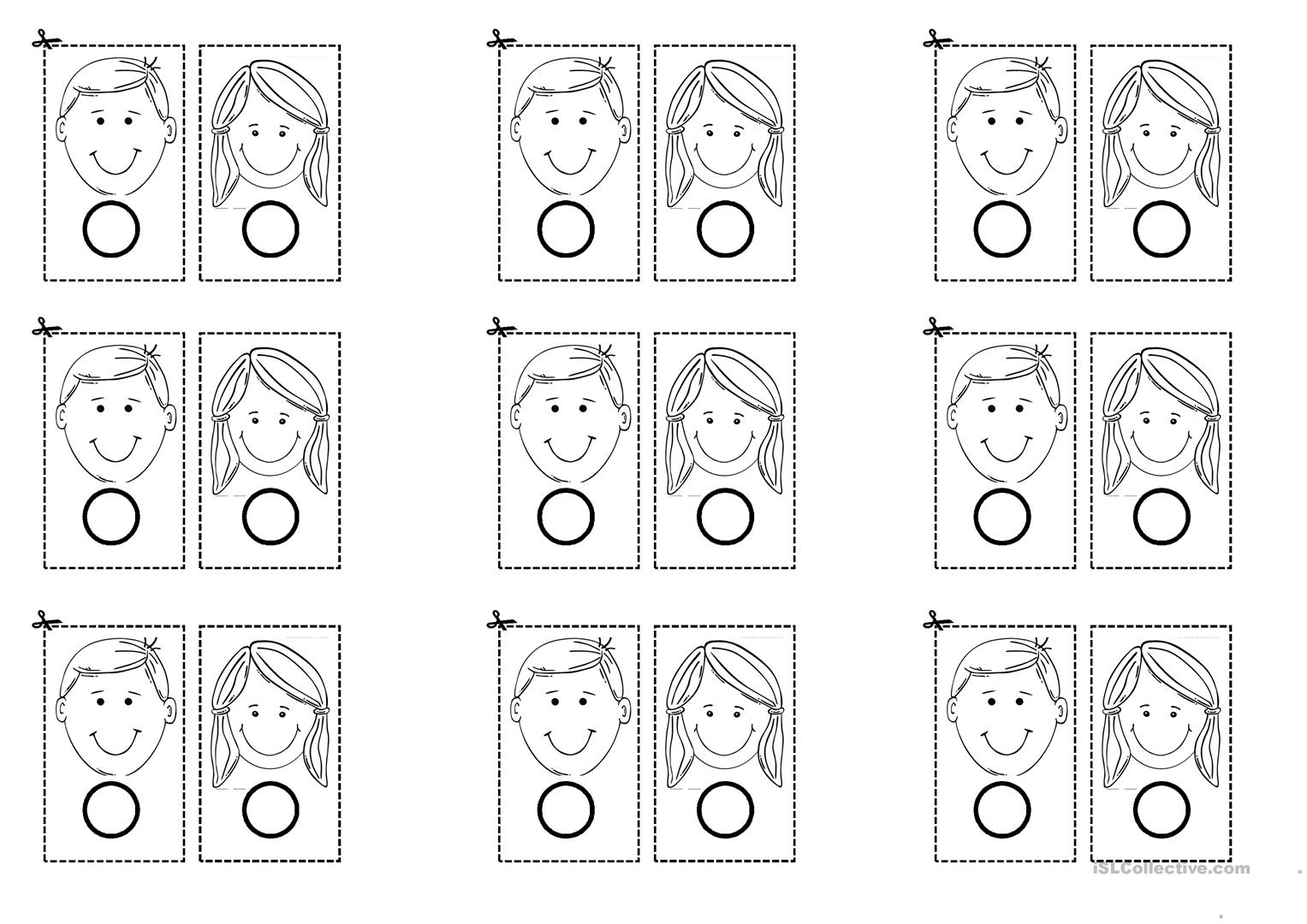 Boy Or Girl Worksheet