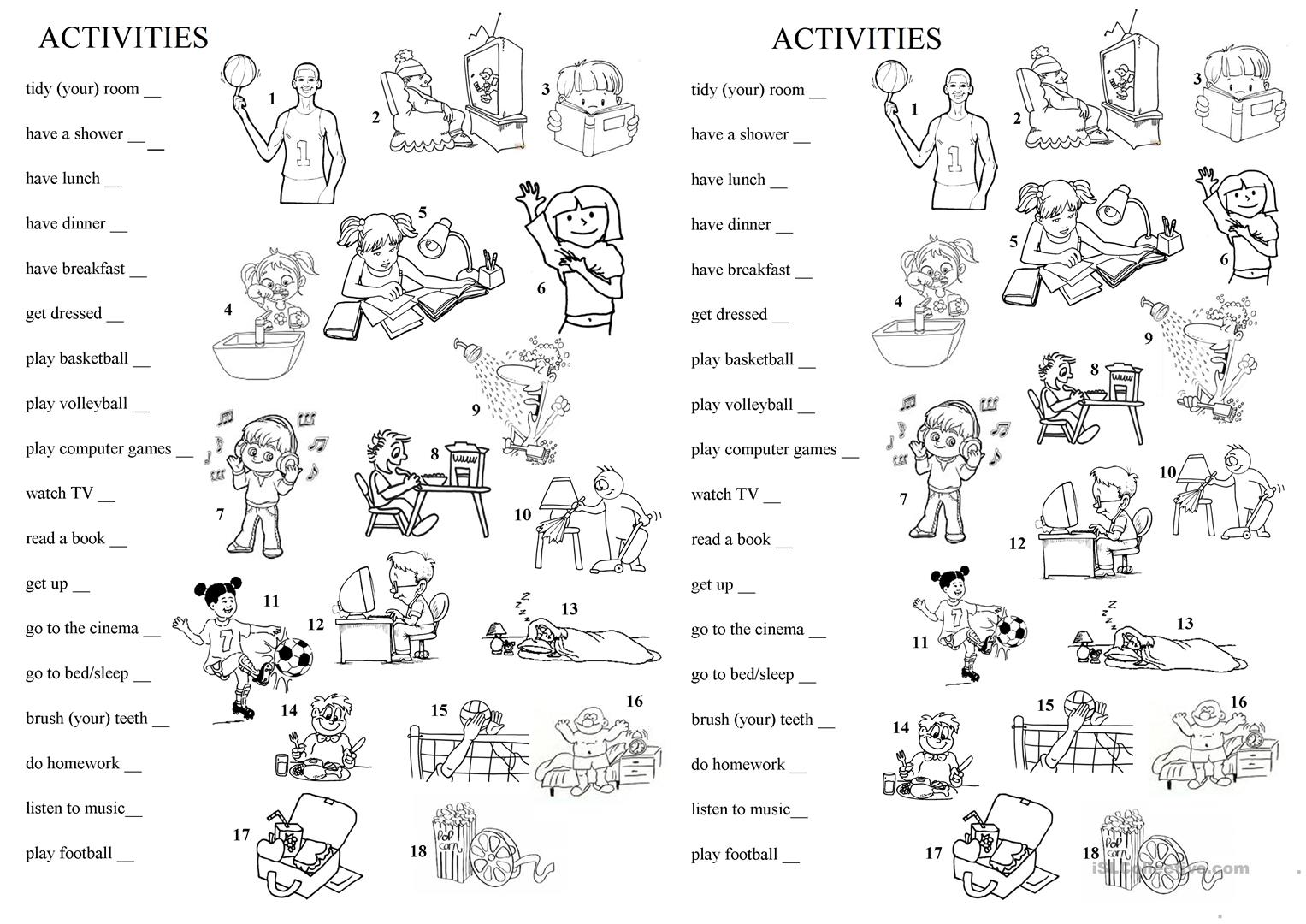 Free Time And Every Day Activities