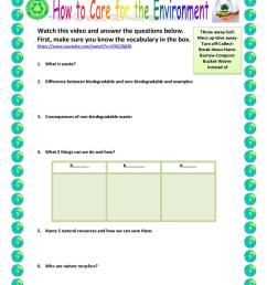 How to care for the environment - English ESL Worksheets for distance  learning and physical classrooms [ 1079 x 763 Pixel ]