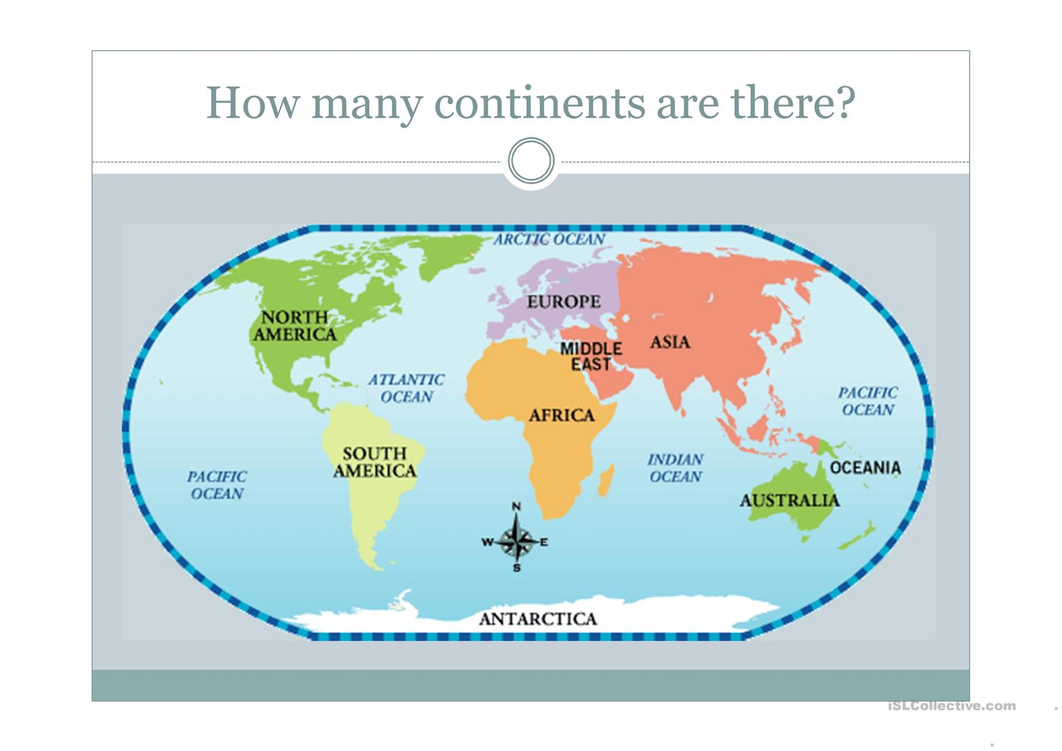 hight resolution of Continents - English ESL Powerpoints for distance learning and physical  classrooms