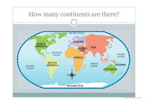 small resolution of Continents - English ESL Powerpoints for distance learning and physical  classrooms