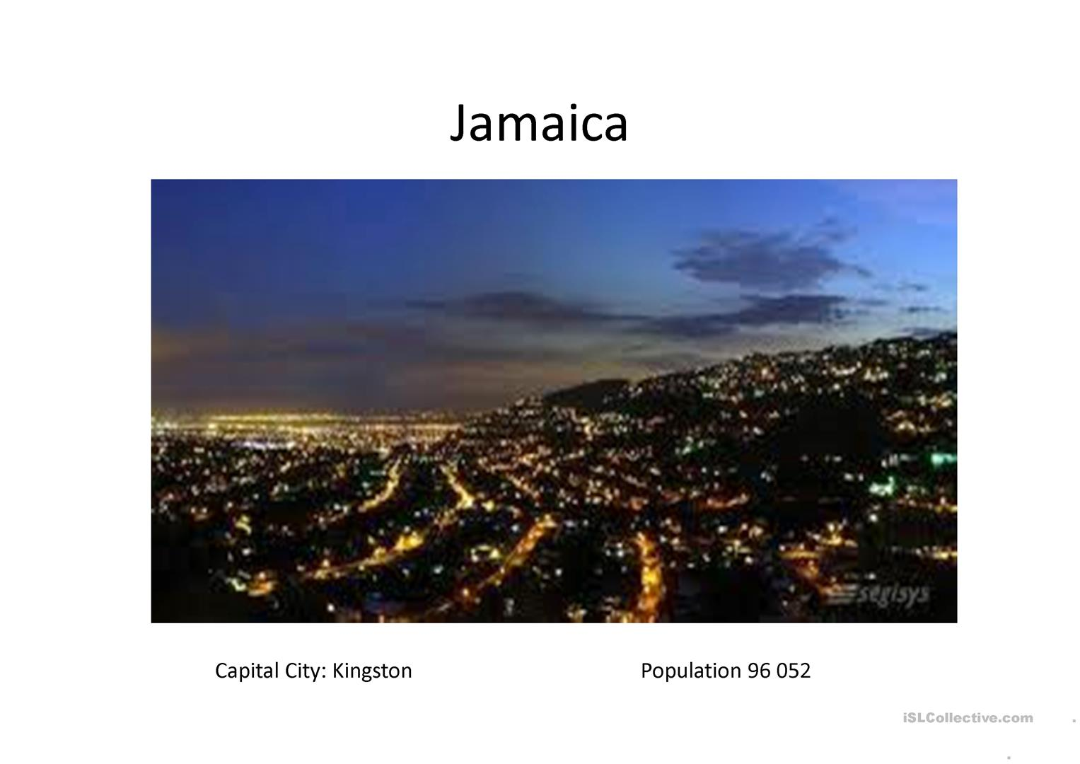 Introduction To Jamaica Worksheet