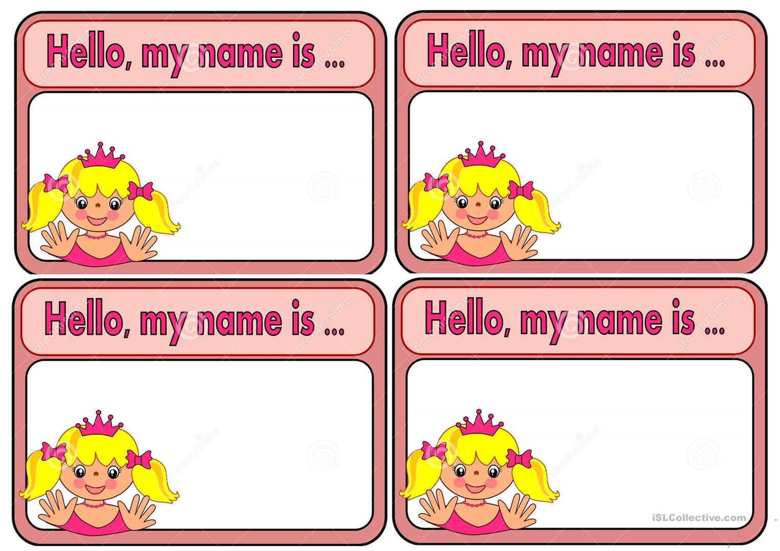 Tag Names For Girls Amp Boys
