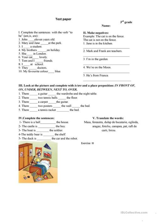 small resolution of 3rd grade test - English ESL Worksheets for distance learning and physical  classrooms