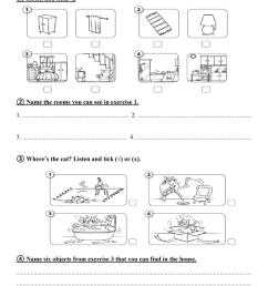 My room - test for 2nd grade - English ESL Worksheets for distance learning  and physical classrooms [ 1079 x 763 Pixel ]