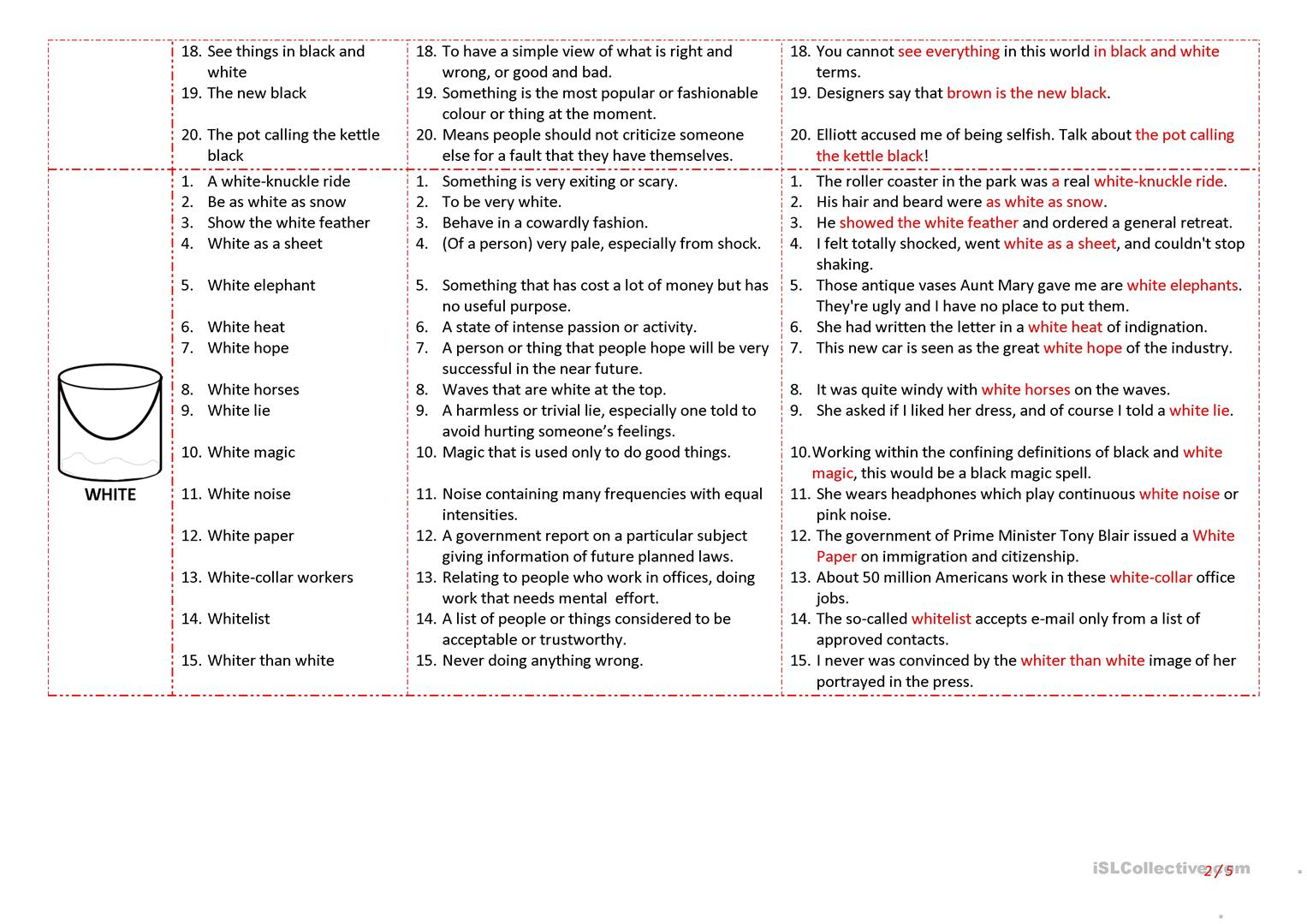 hight resolution of Esl Idioms Worksheet   Printable Worksheets and Activities for Teachers