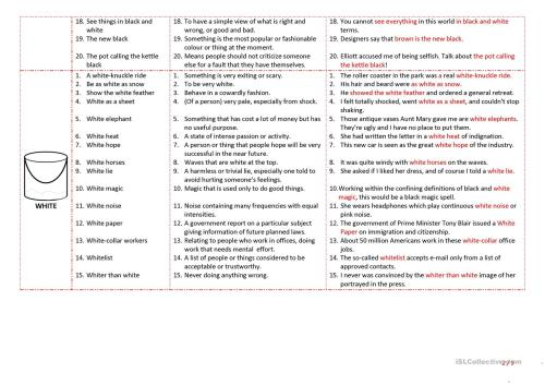 small resolution of Esl Idioms Worksheet   Printable Worksheets and Activities for Teachers