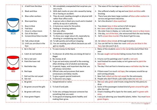 small resolution of English Idioms Worksheet   Printable Worksheets and Activities for  Teachers