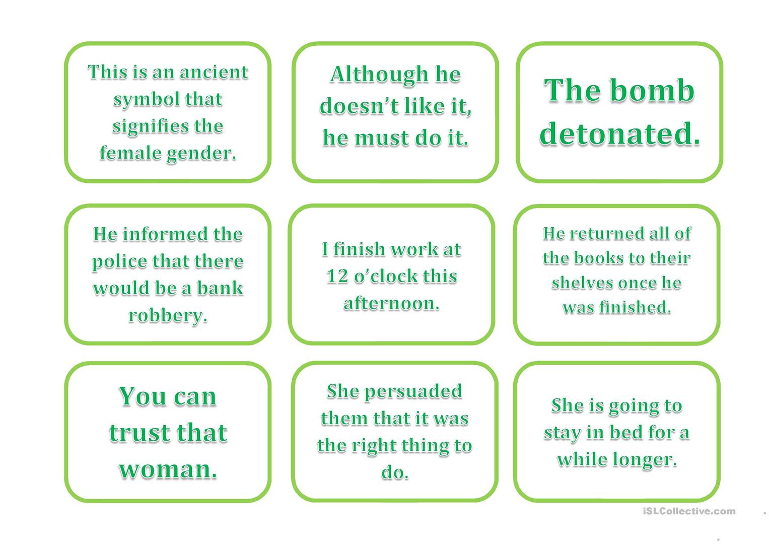 Phrasal Verb Card Game