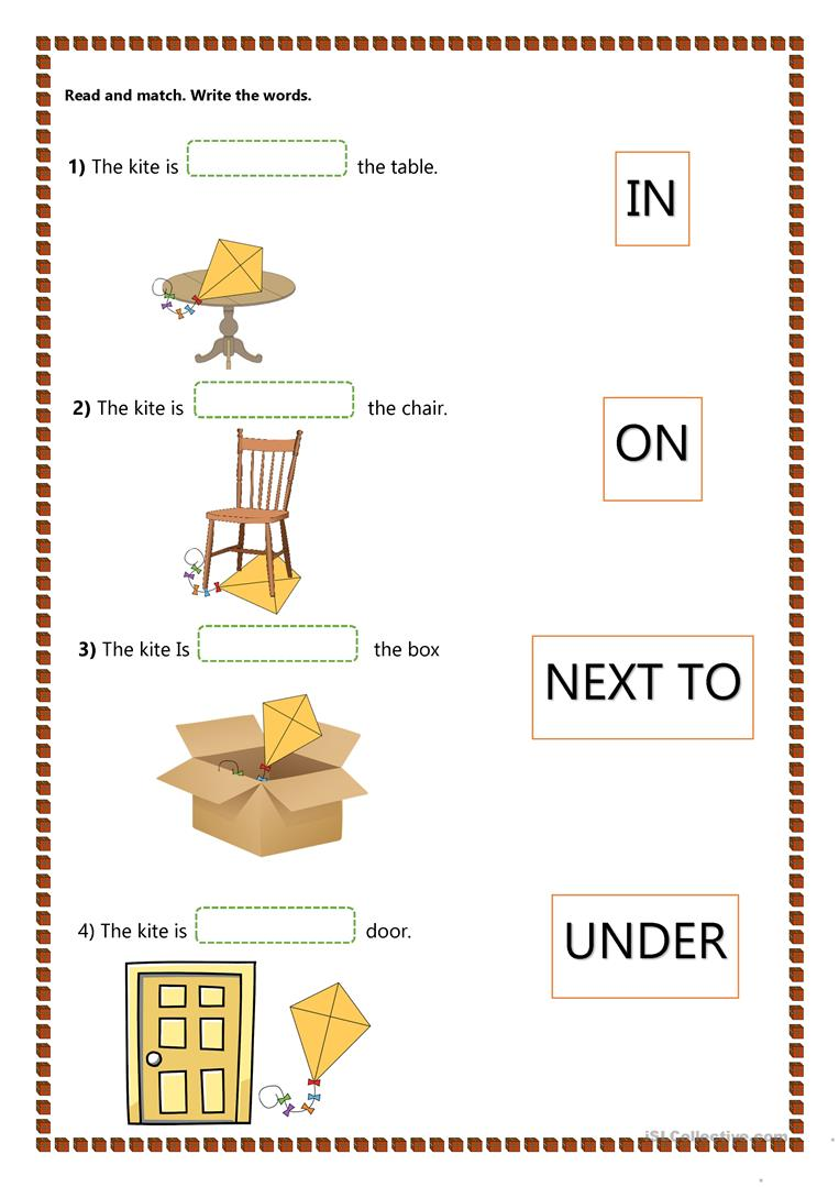 hight resolution of Prepositions of Place - Kids - English ESL Worksheets for distance learning  and physical classrooms