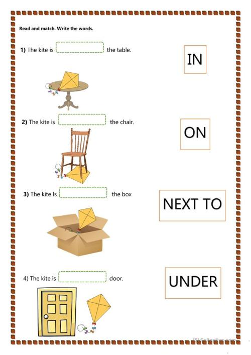 small resolution of Prepositions of Place - Kids - English ESL Worksheets for distance learning  and physical classrooms