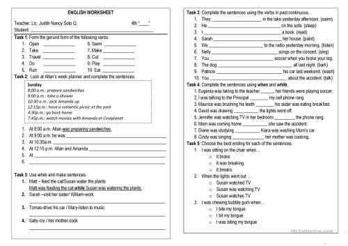 small resolution of Past Continuous Worksheet For Kids   Printable Worksheets and Activities  for Teachers