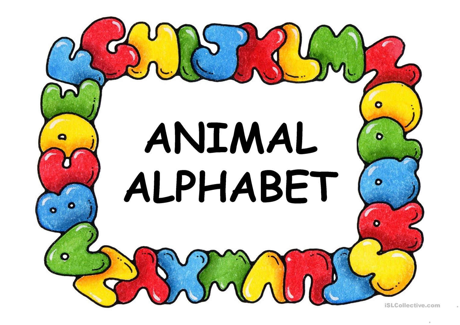 Animal Alphabet Worksheet