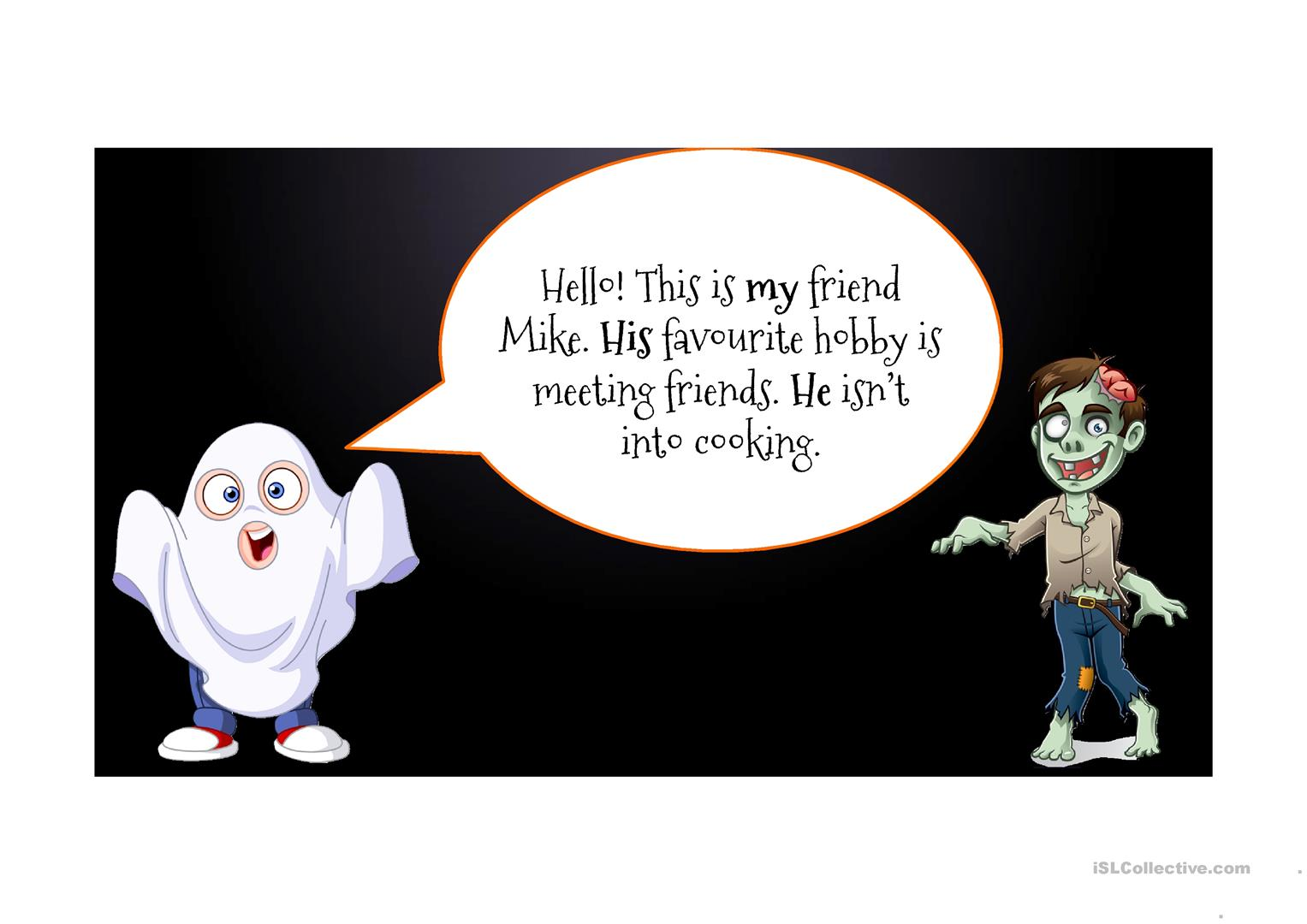 Halloween Themed Presentation With Worksheet And Video