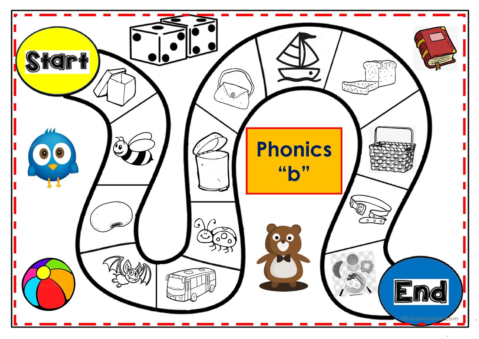 Phonics B Board Game