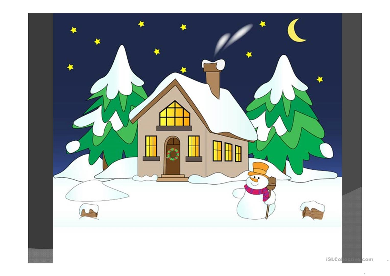 Santa Claus And The House Worksheet