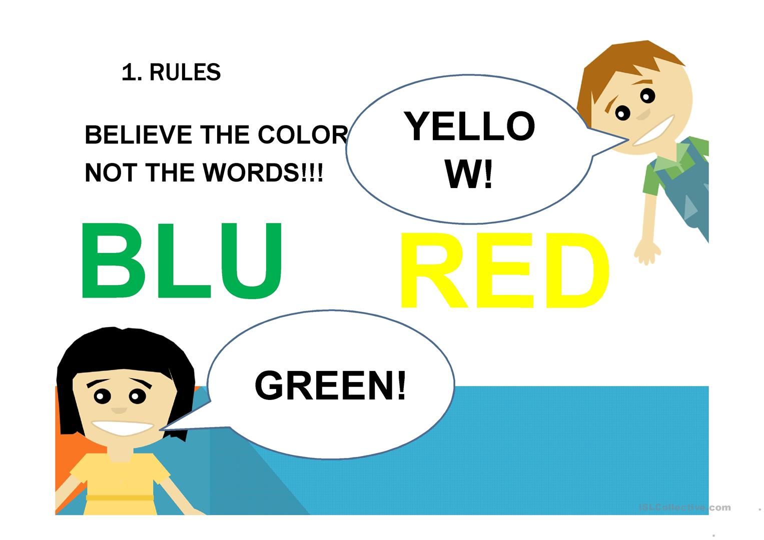 Kids Fun Color Games Esl Efl Kindergarten Preschool