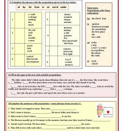 Preposition + noun phrases - English ESL Worksheets for distance learning  and physical classrooms [ 1079 x 763 Pixel ]