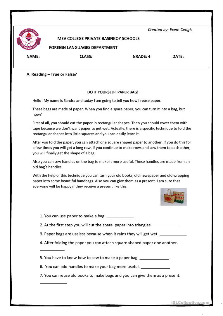 hight resolution of Recycling - Reusing - 4 pages Full Worksheet - English ESL Worksheets for  distance learning and physical classrooms
