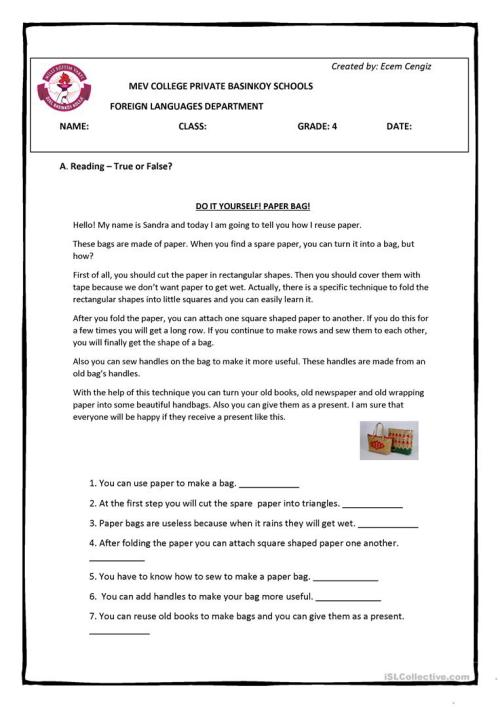 small resolution of Recycling - Reusing - 4 pages Full Worksheet - English ESL Worksheets for  distance learning and physical classrooms