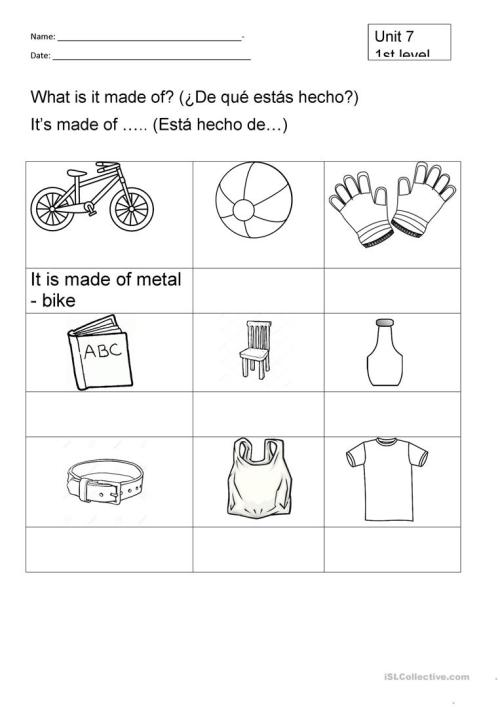 small resolution of Science Worksheet Year 2
