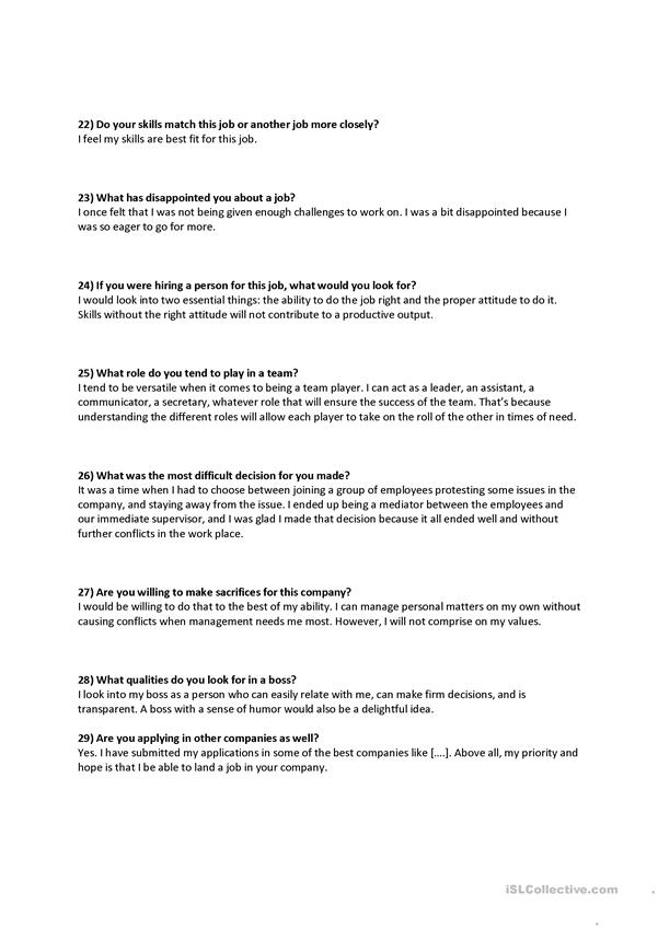job interview personality questions