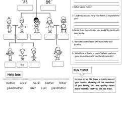 My family Grade 1 - English ESL Worksheets for distance learning and  physical classrooms [ 1079 x 763 Pixel ]