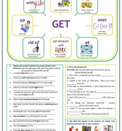 Phrasal verbs with GET - English ESL Worksheets for distance learning and  physical classrooms [ 1079 x 763 Pixel ]