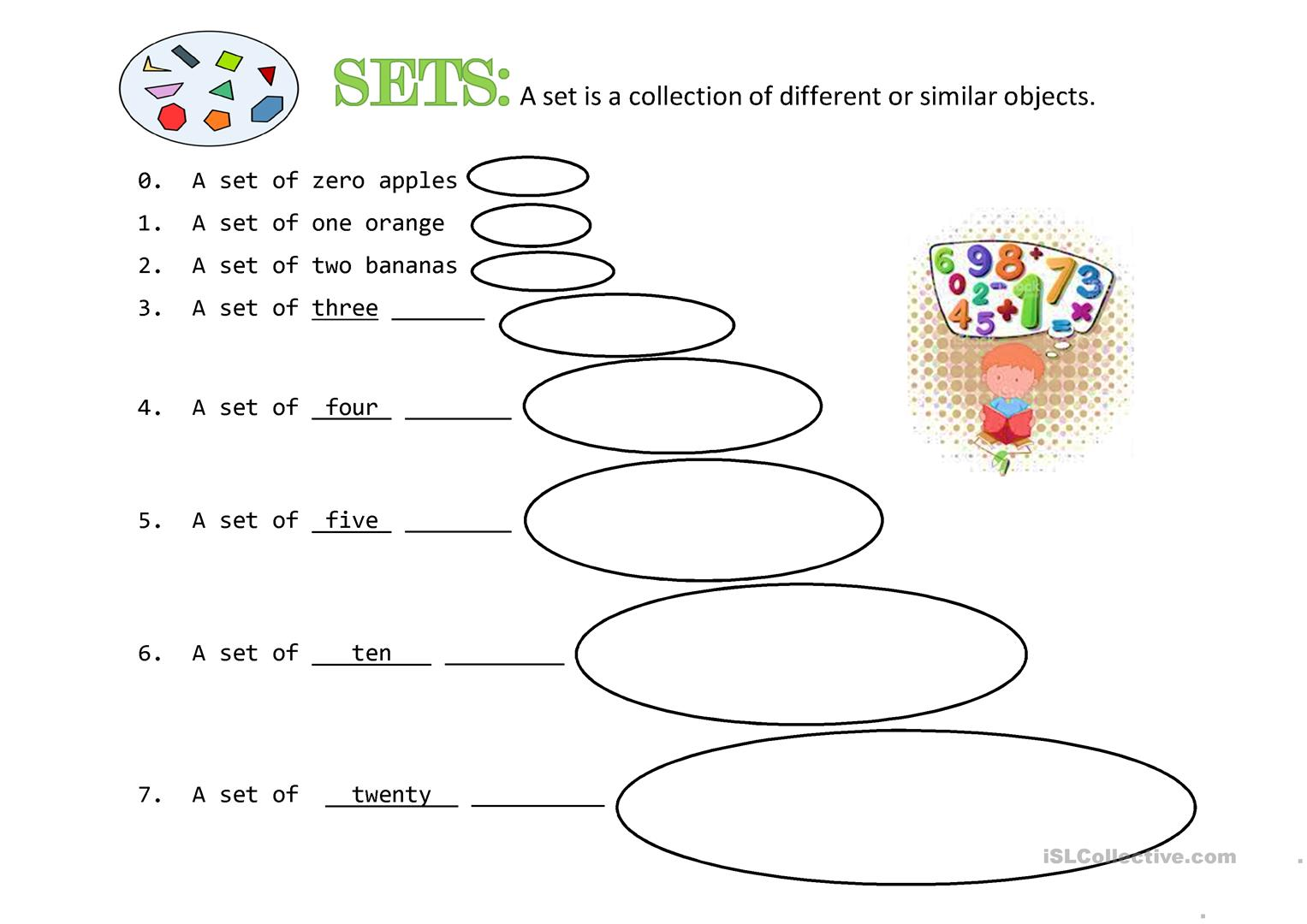 hight resolution of Math: Sets - English ESL Worksheets for distance learning and physical  classrooms