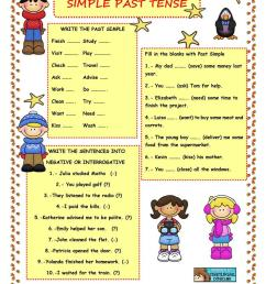 SIMPLE PAST TENSE - REGULAR VERBS - English ESL Worksheets for distance  learning and physical classrooms [ 1079 x 763 Pixel ]
