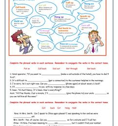 Telephone phrasal verbs - English ESL Worksheets for distance learning and  physical classrooms [ 1079 x 763 Pixel ]
