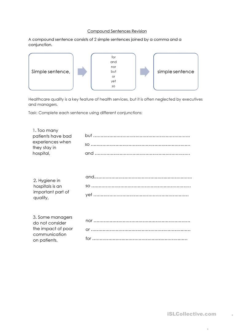 medium resolution of Commas And Compound Sentences Worksheet - Nidecmege