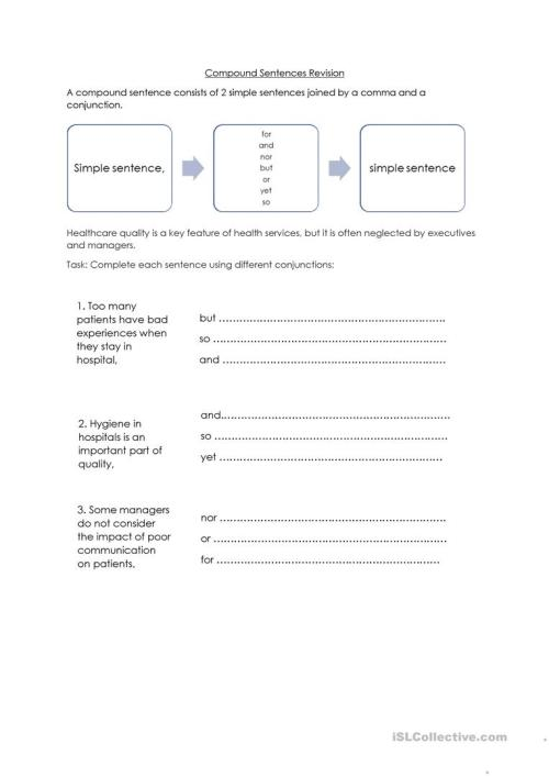 small resolution of Commas And Compound Sentences Worksheet - Nidecmege
