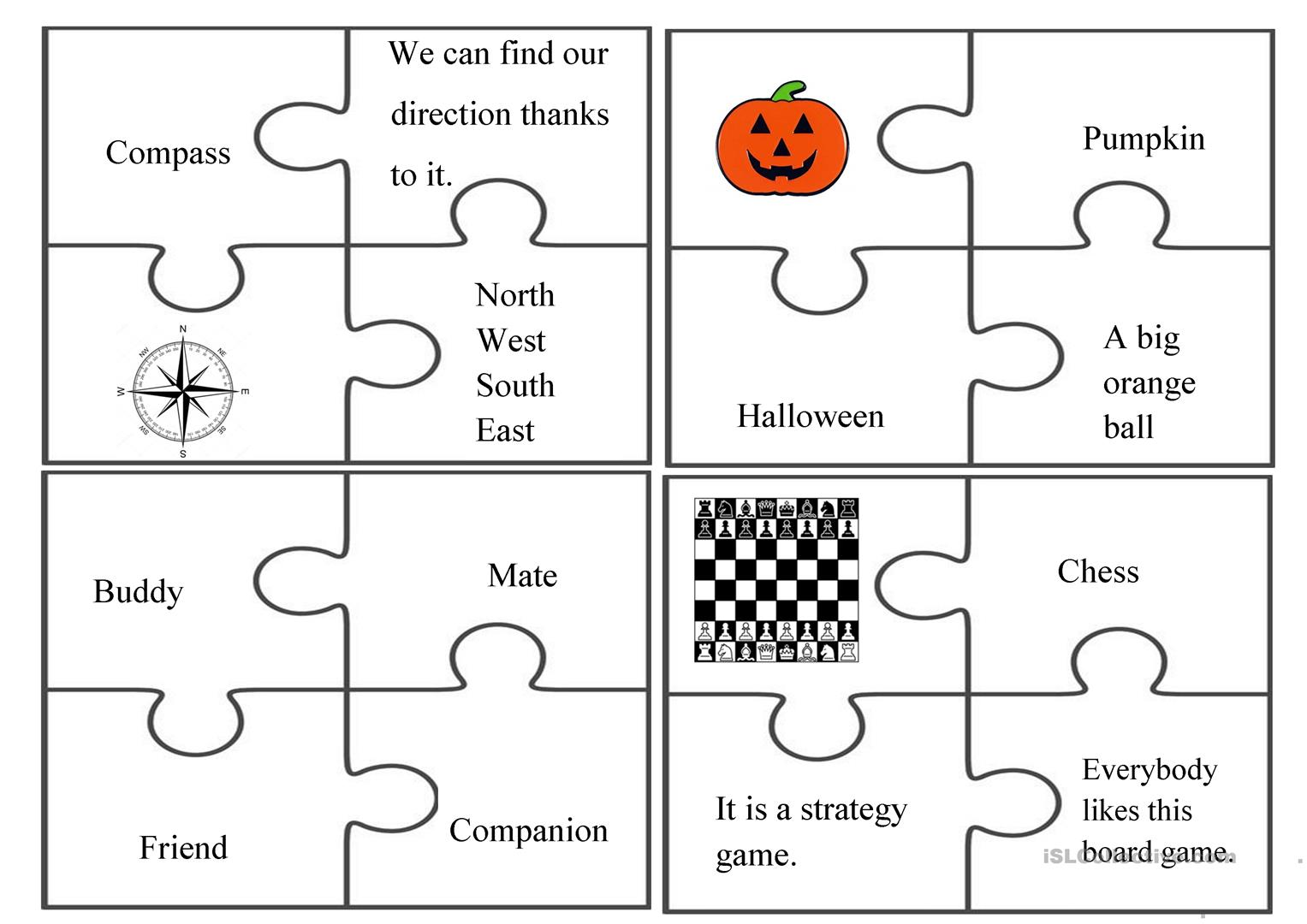 Puzzle Fun Group Activity Worksheet