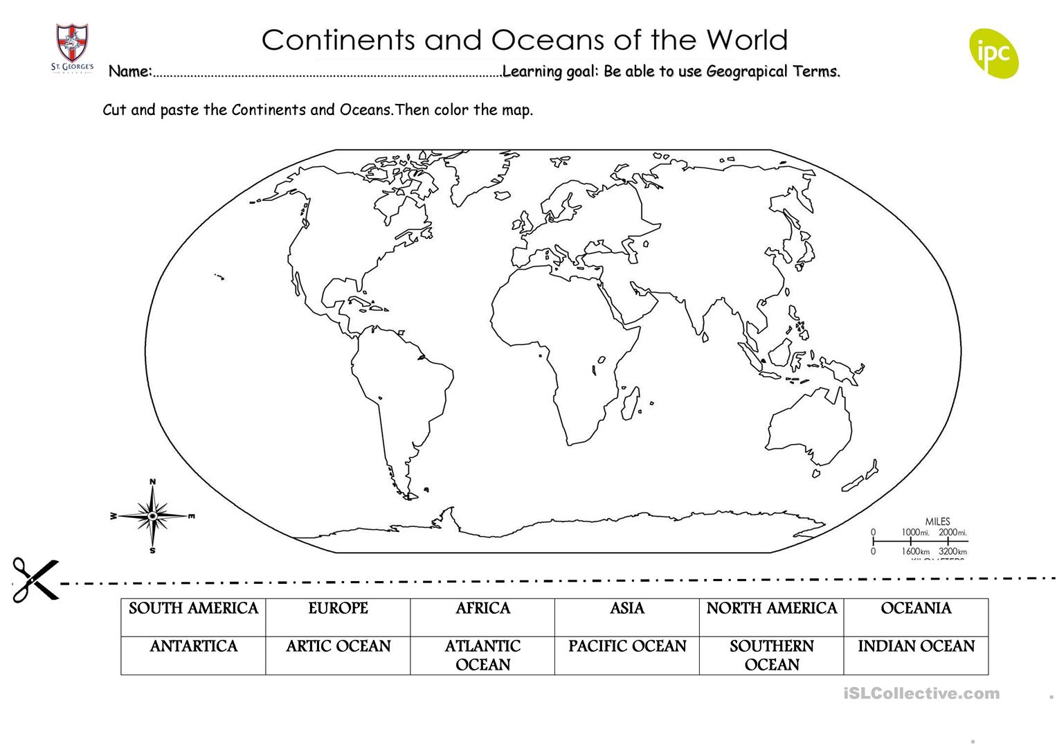 Continents And Oceans Quiz Game