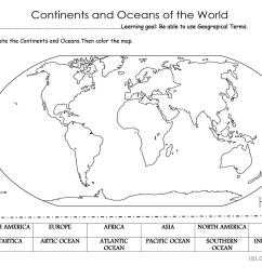 32 Label The Continents And Oceans Worksheet - Labels Database 2020 [ 1080 x 1527 Pixel ]