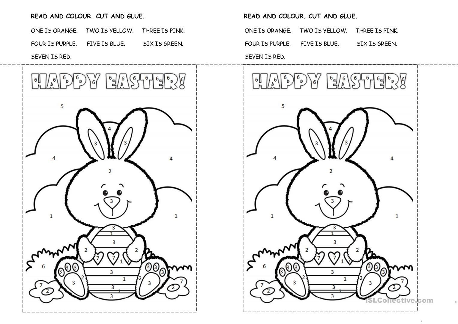 Easter Bunny Colouring Activity