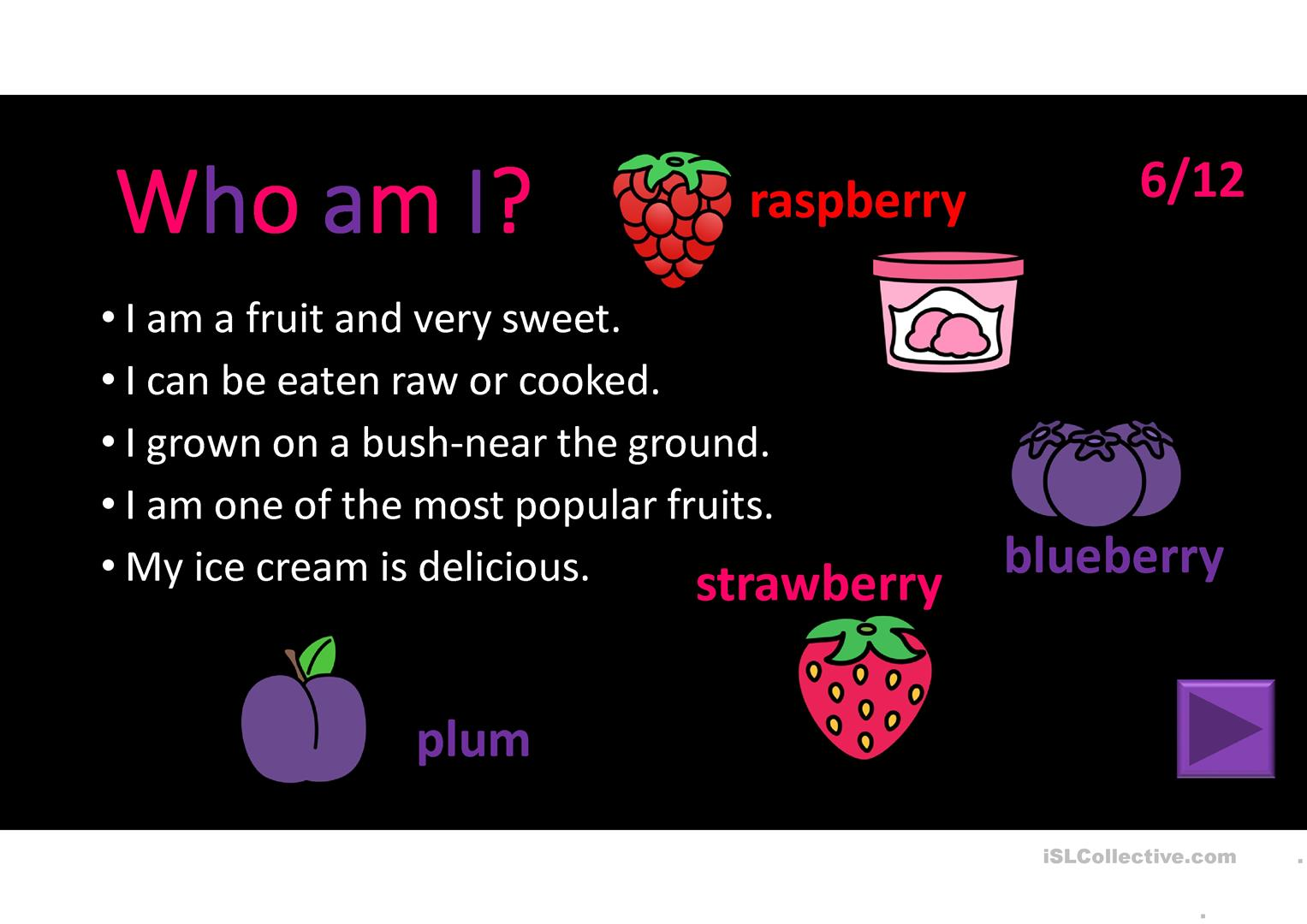 Fruit And Vegetable Riddles