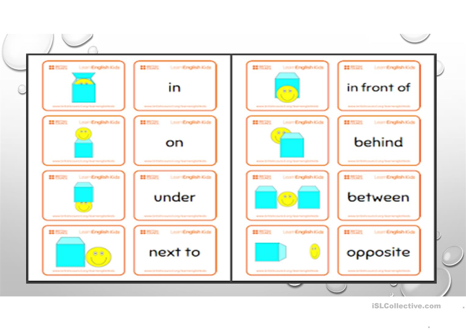Prepositions Of Place For Children