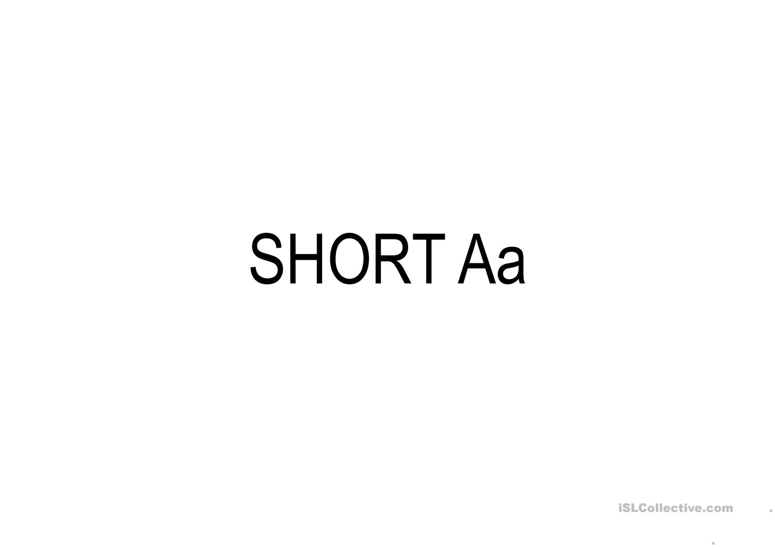 Long And Short Vowels With Pictures