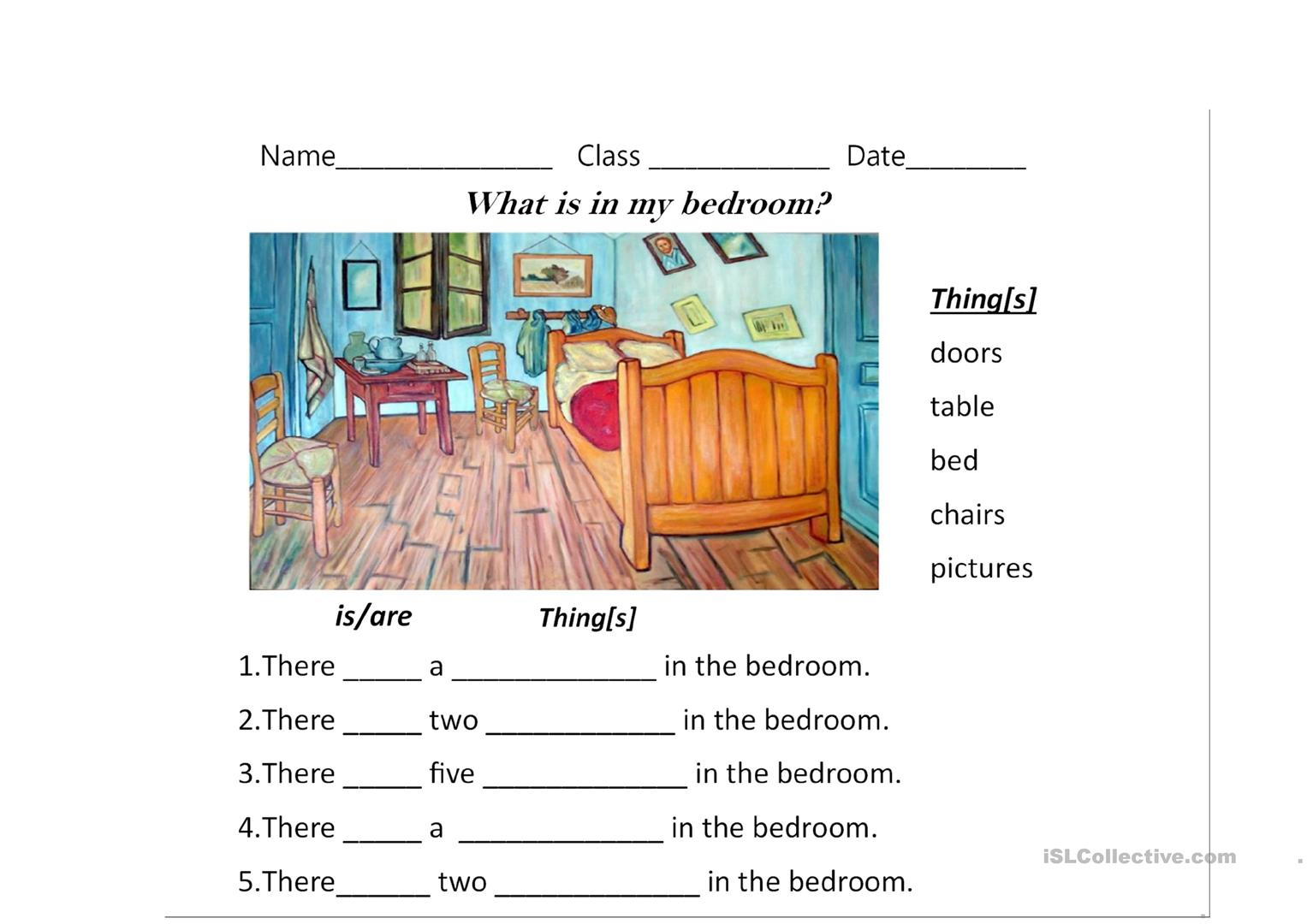 There Is Are Worksheet