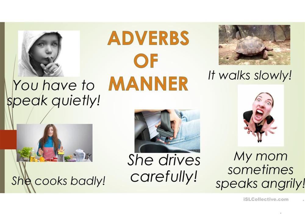 medium resolution of ADVERBS OF MANNER - English ESL Powerpoints for distance learning and  physical classrooms