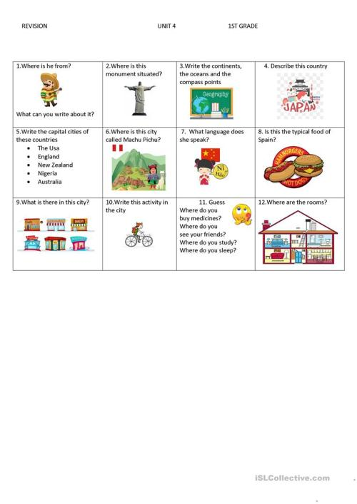 small resolution of countries ans cities - English ESL Worksheets for distance learning and  physical classrooms