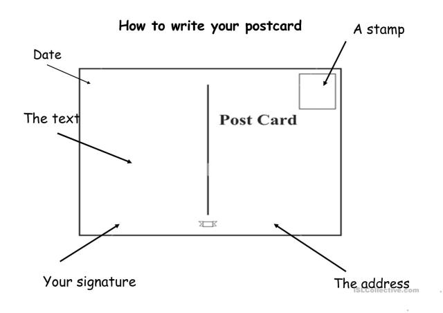 How to write a postcard - English ESL Powerpoints for distance