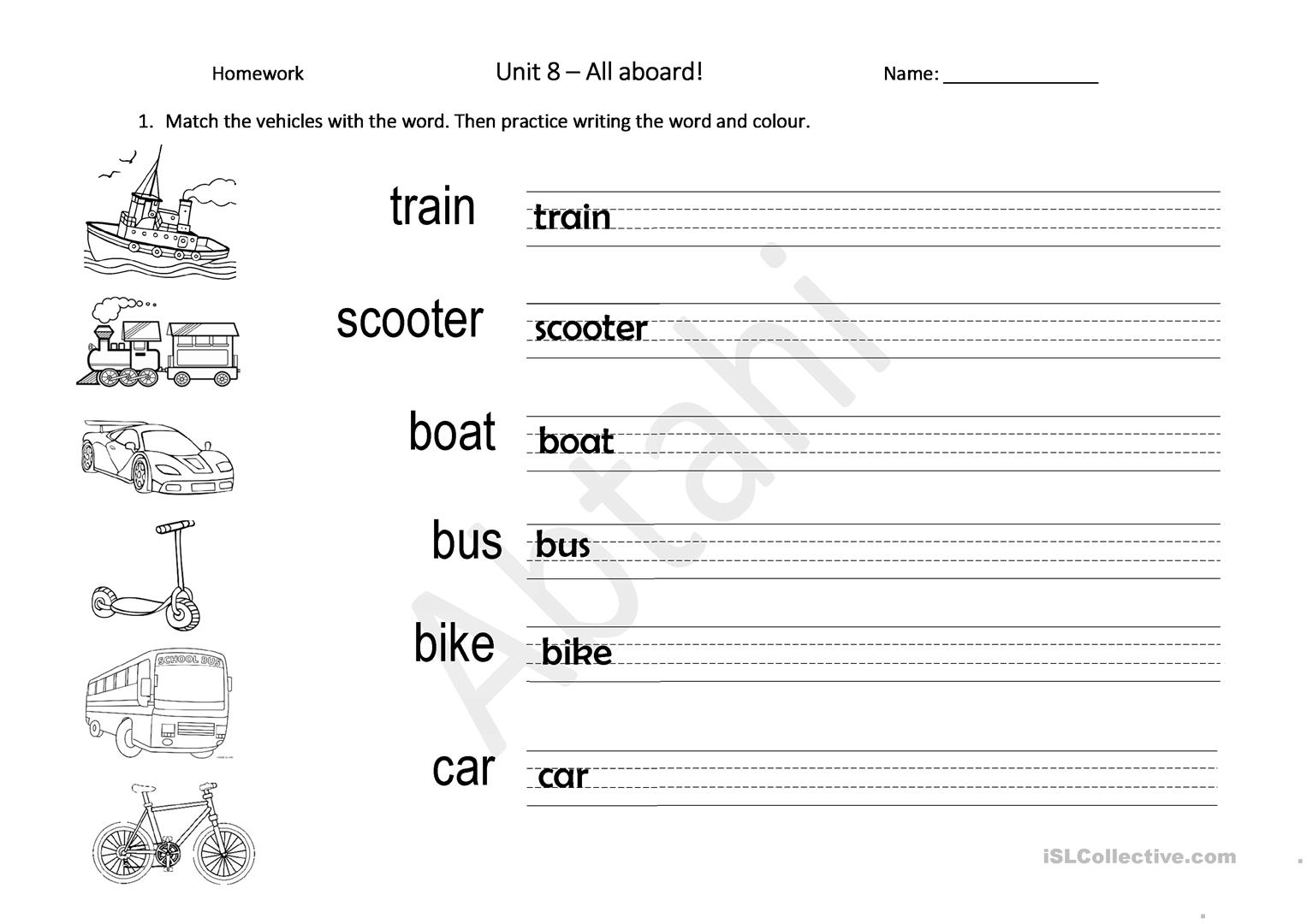 Transportation Then And Now Worksheet