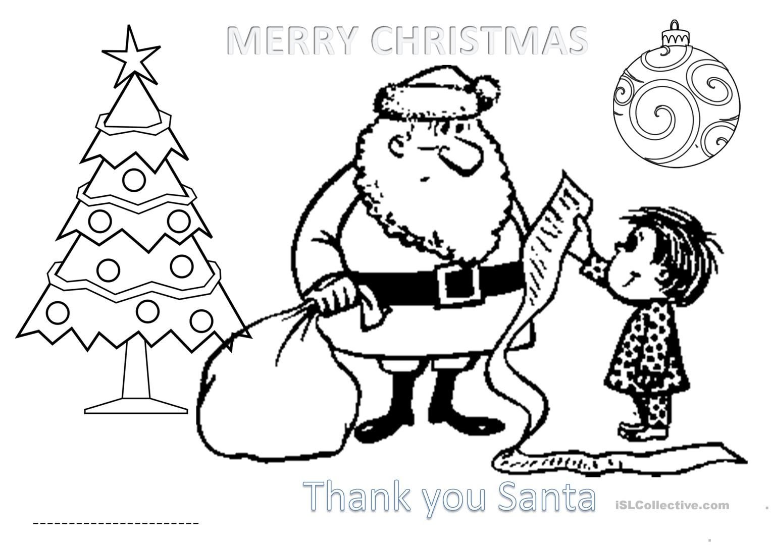 Activity Sheet Christmas For Primary 1