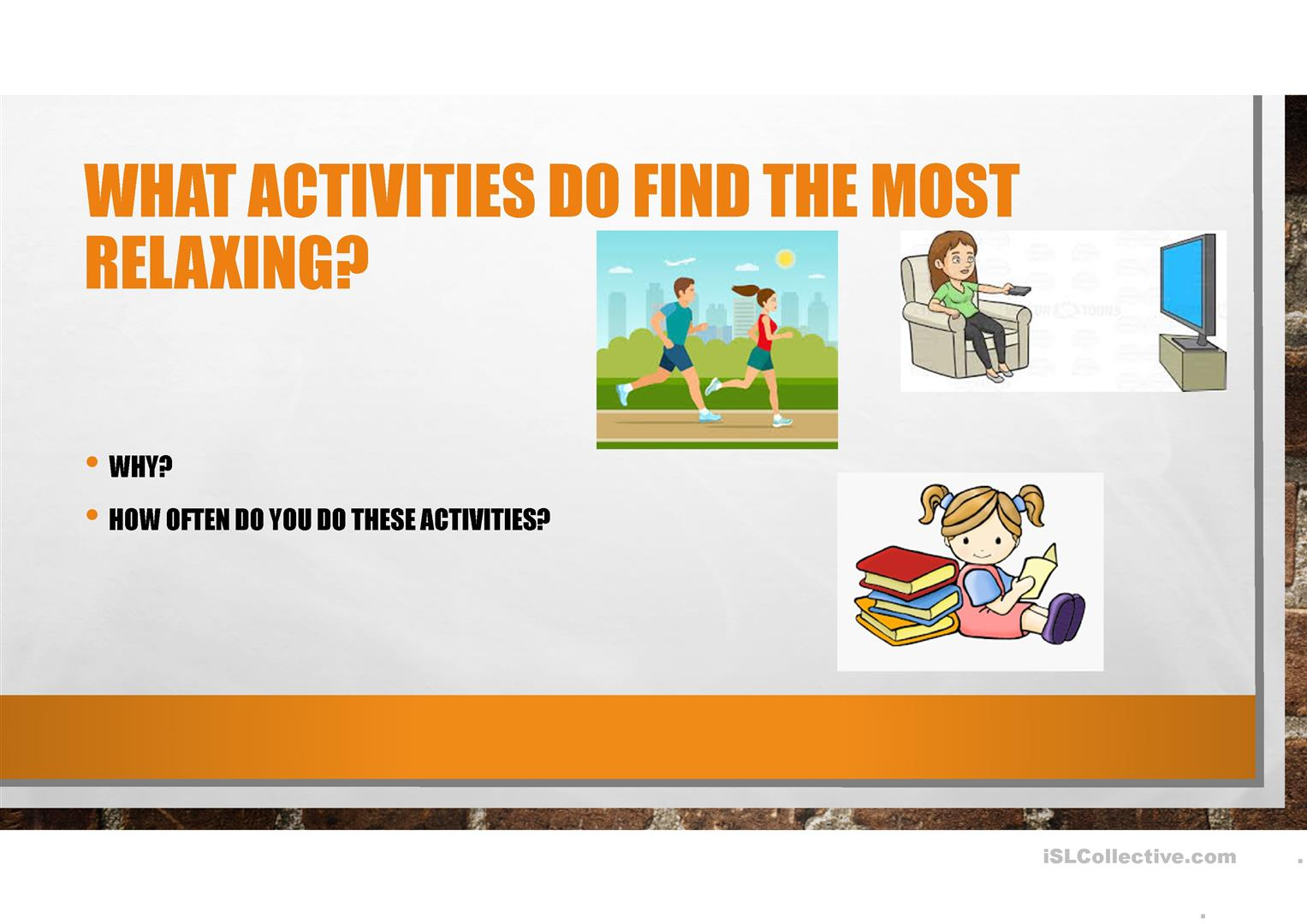 Speaking Activity Using Adjectives Ed And Ing