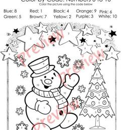 Christmas Color by Code - Christmas Coloring Pages - Numbers 1-10 Activities  - English ESL Worksheets for distance learning and physical classrooms [ 1079 x 763 Pixel ]