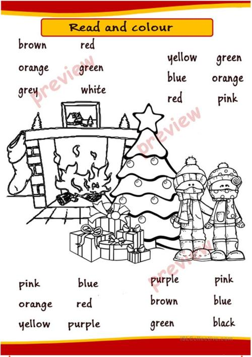 small resolution of Christmas Coloring pages - English ESL Worksheets for distance learning and  physical classrooms