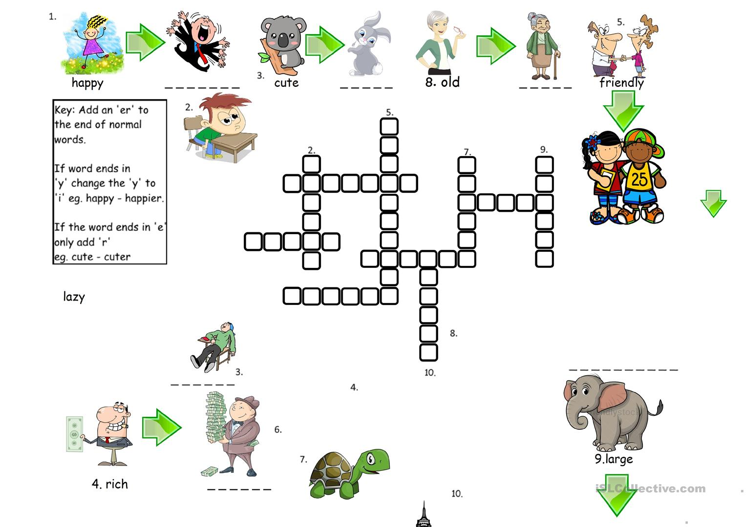 Comparatives Crossword